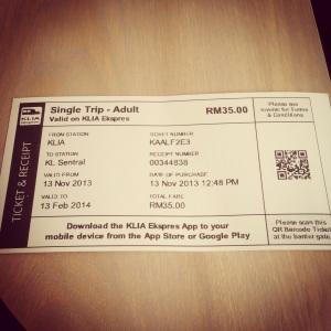 KLIA Express tiket