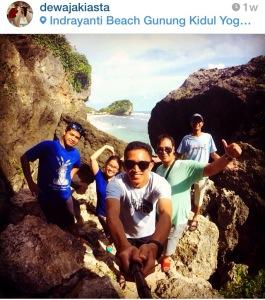 Pantai indah di Jogja