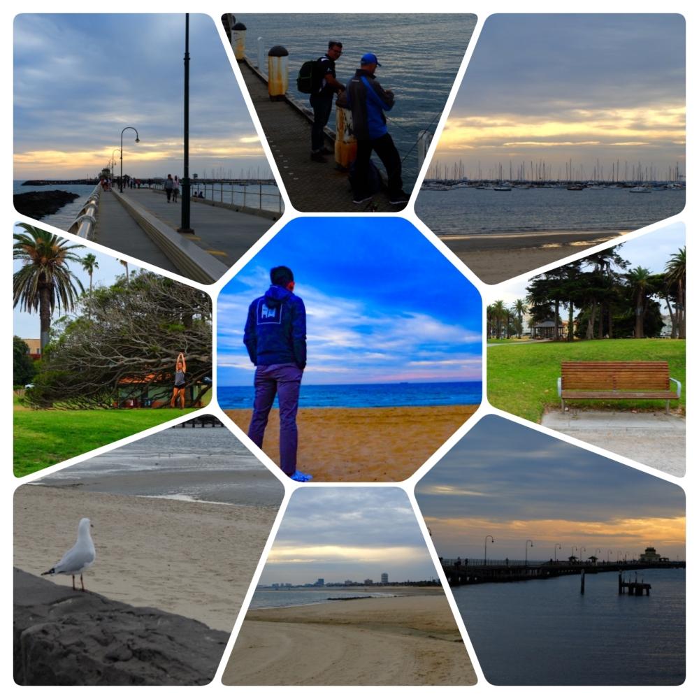 St Kilda beach, pier